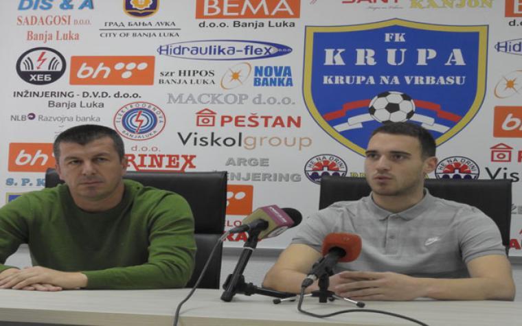 Krupa spremna za gostovanje kod Musemića: 'Bez ikakvog imperativa putujemo na megdan Mladosti'