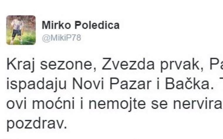 Predsjednik sindikata u Srbiji iznio šokantne tvrdnje: 'Sve se zna, Zvezda je prvak, Novi Pazar i Bačka ispadaju!'