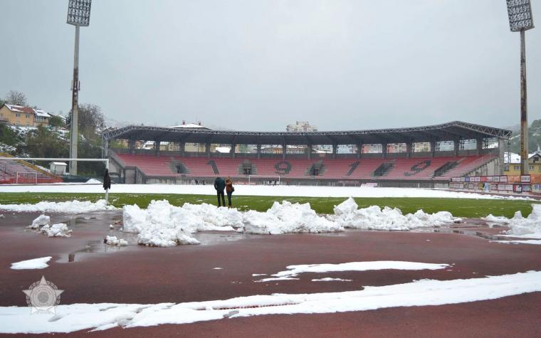 Tušanj se čisti od snijega: U Tuzli sutra gostuje Zrinjski