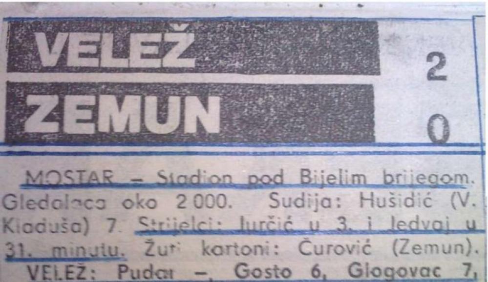 velo.jpg - Na današnji dan prije 25 godina: FK Velež odigrao posljednju utakmicu Pod Bijelim brijegom