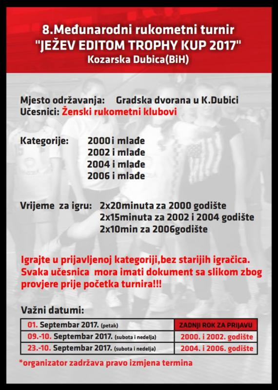 1111111111111.jpg - Dubica domaćin 8. po redu Ježevog Kupa za rukometašice
