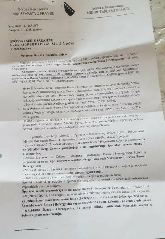 1.jpg - RSBiH ima pitanje za pravnike i stručnjake: Treba li uništiti rukomet u Bosni i Hercegovini?