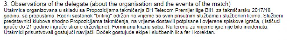 Screenshot_1.png - Delegat susreta u Mostaru nije vidio ništa loše, sve je prošlo u fer i korektnom ponašanju