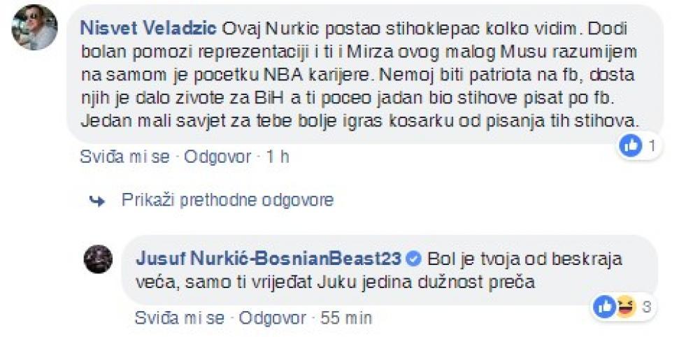 1.jpg - (FOTO) Nurkić podržao bh. reprezentativce, pa dobio kritike na koje je imao odgovor