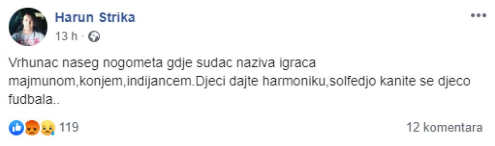 strika.png - (FOTO) SKANDAL U PRVOJ LIGI FEDERACIJE BiH: Sudija igrača nazivao konjem, majmunom i indijancem