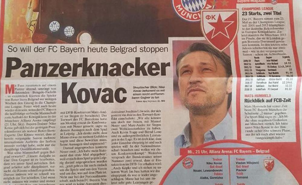 Pancerknaker.jpg - (FOTO) Njemačke novine provociraju navijače Crvene zvezde zbog tenka: Ovako je Niko Kovač predstavljen u medijima!