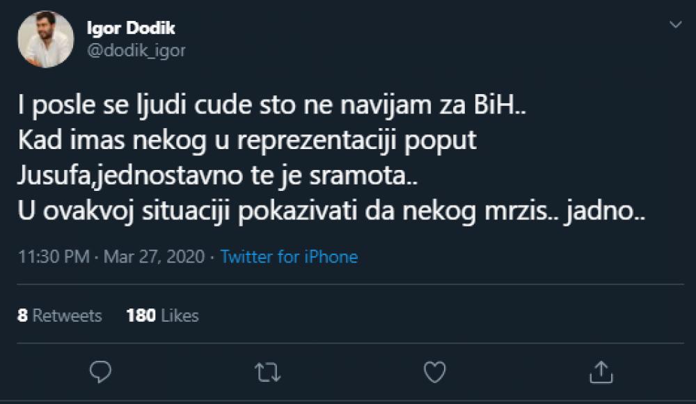 Igor Dodik.png - (FOTO) Dodik osuo žestoku paljbu po Nurkiću: I poslije se ljudi čude što ne navijam za BiH...